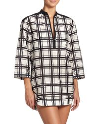 Proenza Schouler Plaid Cotton & Silk Shirtdress - Lyst