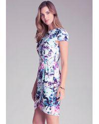 Bebe Print Wrap Skirt Dress - Lyst