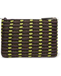 M Missoni - Metallic Crochet-knit Clutch - Lyst