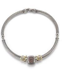 David Yurman Pre-owned 18ksilver Contemporary Tourmaline Necklace - Lyst