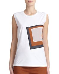 Reed Krakoff Geometric Applique Top - Lyst