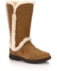 Ugg | Katia Suede, Shearling & Faux Fur Boots | Lyst