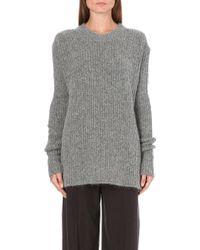 Haider Ackermann Mohair Knitted Jumper L Grey - Lyst