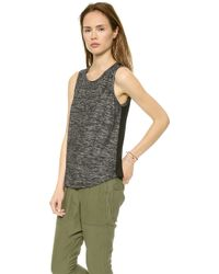 Splendid Space Dye Tank Black - Lyst