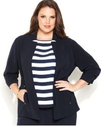 Jones New York | Collection Plus Size Openfront Jacket | Lyst
