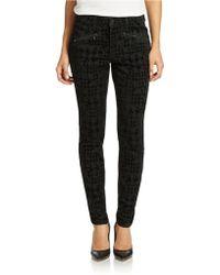 Nydj Ami Houndstooth Print Stretch Skinny Jeans - Lyst