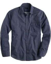 J.Crew Lightweight Japanese Cotton Shirt in Circular Dot Print - Lyst