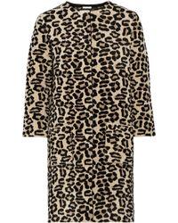 Oscar de la Renta Textured Leopardjacquard Coat - Lyst