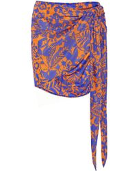 Vix Antigua Printed Jersey Wrap Skirt - Lyst