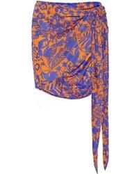 Vix Antigua Printed Jersey Wrap Skirt - Lyst