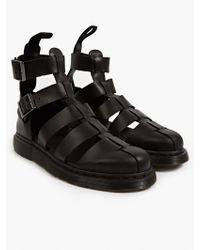 Dr. Martens Men'S Black Geraldo Ankle Strap Sandals - Lyst
