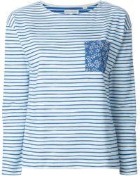 Chinti & Parker Striped Longsleeved T-Shirt blue - Lyst