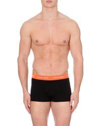 Calvin Klein Logo Waistband Trunks Pack Of 3 - For Men - Lyst