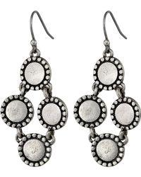 Lucky Brand Diamond Drop Earrings - Lyst