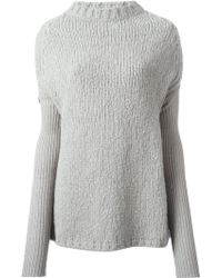 Rick Owens Drop Shoulder Sweater - Lyst
