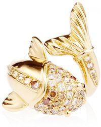 Amsterdam Sauer X Bianca Brandolini - One Of A Kind Fish Ring - Lyst