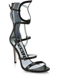 DANNIJO - Emil Geometric Leather Gladiator Sandals - Lyst