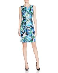 Ellen Tracy - Floral Print Sheath Dress - Compare At $118 - Lyst