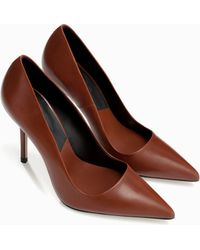 Zara Leather Court Shoe - Lyst