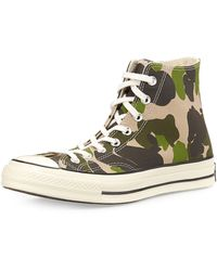 Converse All Star Camo Hightop Sneaker - Lyst