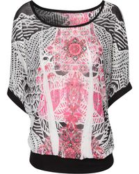 Jane Norman Embellished Sub Print Gypsy Top - Lyst