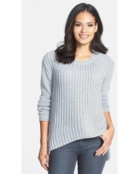 Eileen Fisher The Fisher Project Round Neck High/Low Wool Blend Sweater - Lyst