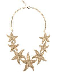 Roberto Cavalli Embellished Necklace - Lyst