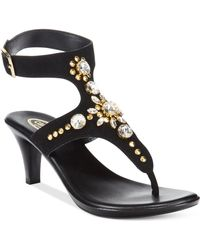Callisto Cherry Ankle Strap Jeweled Sandals - Lyst