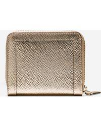 Cole Haan | gold Eva Small Zip Wallet | Lyst