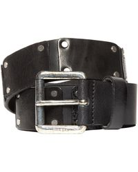 Diesel Leather Patches Belt black - Lyst