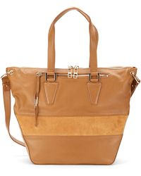 Kelsi Dagger Tavi Leather & Suede Convertible Tote Bag - Lyst