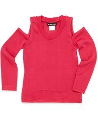 Un Deux Trois Coldshoulder Slouchy Sweater - Lyst