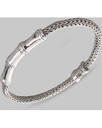 John Hardy Sterling Silver Bamboo & Rope Bracelet silver - Lyst