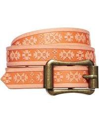 Asos Skinny Embossed Waist Belt - Lyst