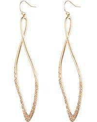 Alexis Bittar Encrusted Twist Wire Earring - Lyst