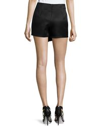 Romeo and Juliet Couture - Woven Jacquard Overlay Shorts - Lyst