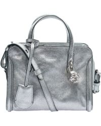 Alexander McQueen Mini Silver Padlock Bag - Lyst