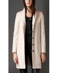 Burberry Cashmere Caban with Slim Collar - Lyst