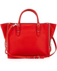Balenciaga Papier A4 Mini Leather Tote Bag red - Lyst