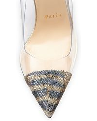 Christian Louboutin Debout Glitter Pvc Red Sole Pump - Lyst