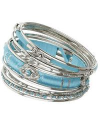 Topshop Wrap Bangle Pack - Lyst