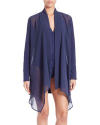 Tommy Bahama - Knit And Chiffon Cover-up - Lyst