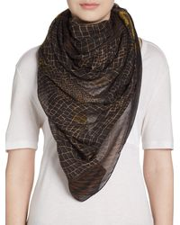 Versace Printed Modal  Cashmere Scarf - Lyst