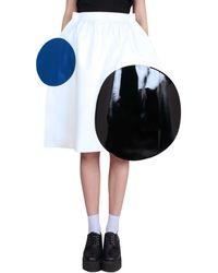 Junya Watanabe Circles Patches Skirt white - Lyst