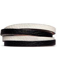 Alexander McQueen Skull Double Wrap Leather Bracelet - Lyst