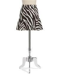 MICHAEL Michael Kors Zebra Skirt - Lyst