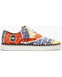 DSquared2 Red Multi_print Canvas Sneakers - Lyst