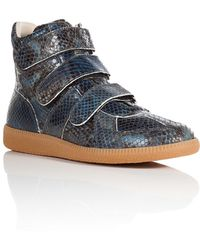 Maison Margiela Python High-Top Sneakers - Lyst
