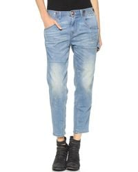 Free People Boyfriend Jeans Aquamarine - Lyst