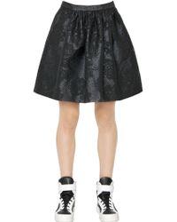 Essentiel - Cotton Blend Floral Jacquard Skirt - Lyst